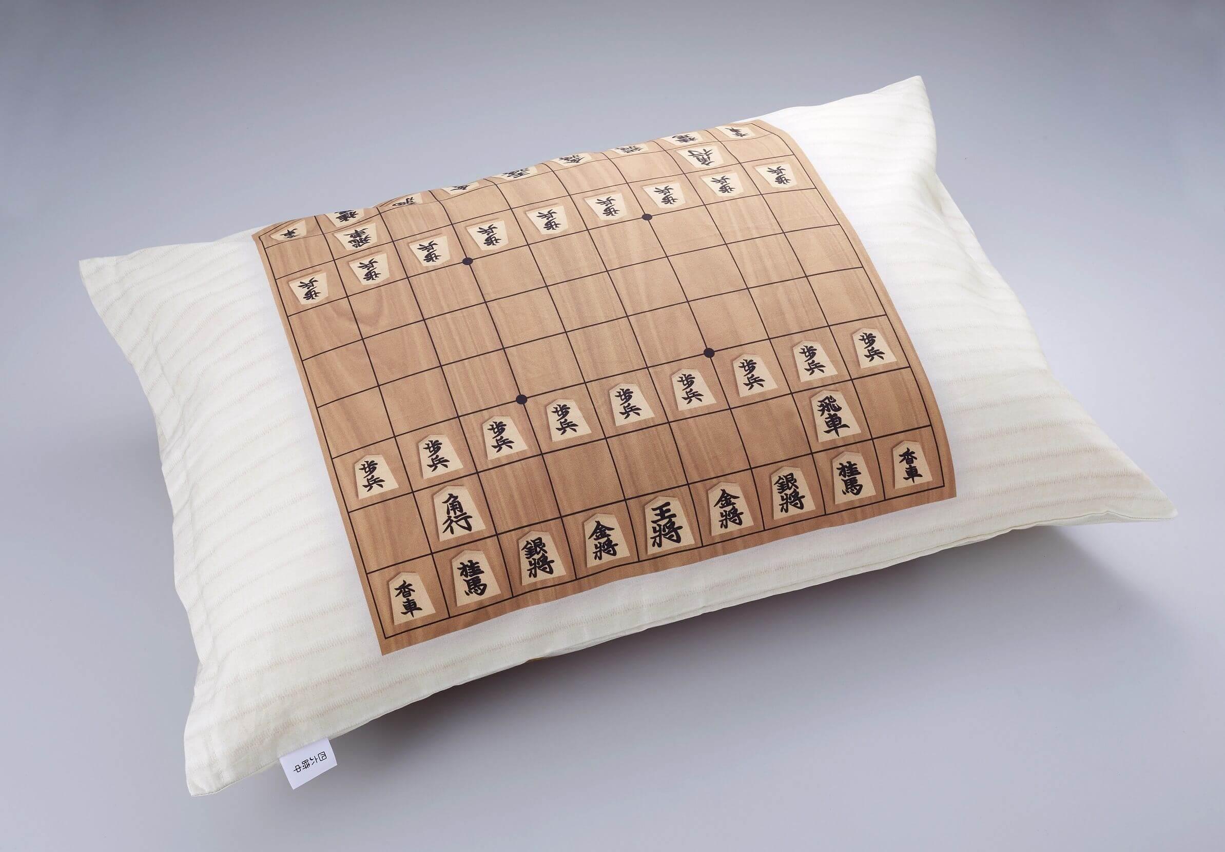 将棋柄のピロケース